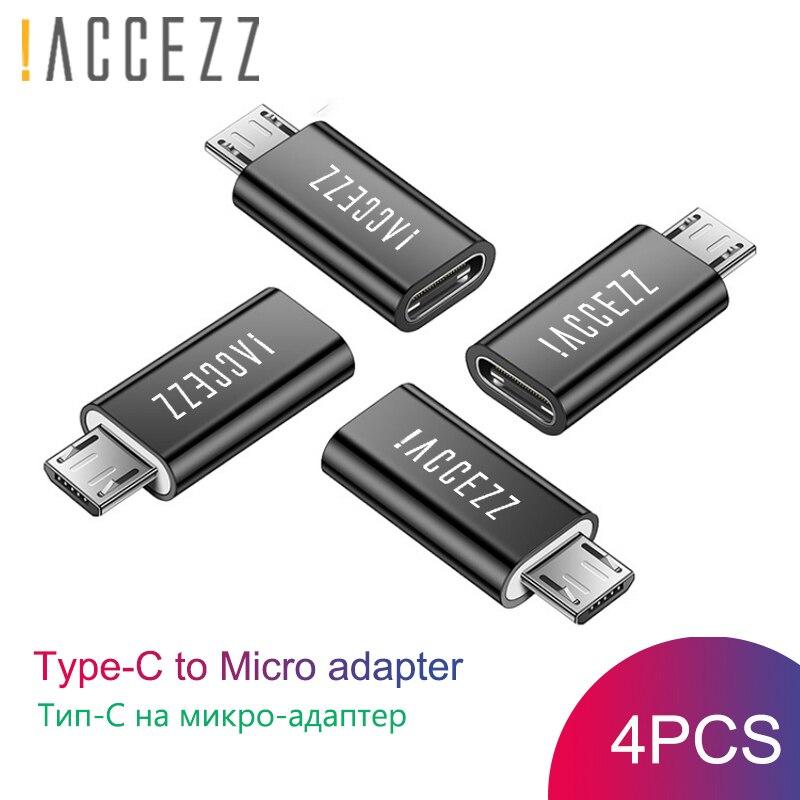 ¡! ACCEZZ macho Micro USB al tipo-C adaptador hembra OTG para Xiaomi Redmi 4X Samsung Galaxy S6 S7 Huawei Micro USB Android convertidor