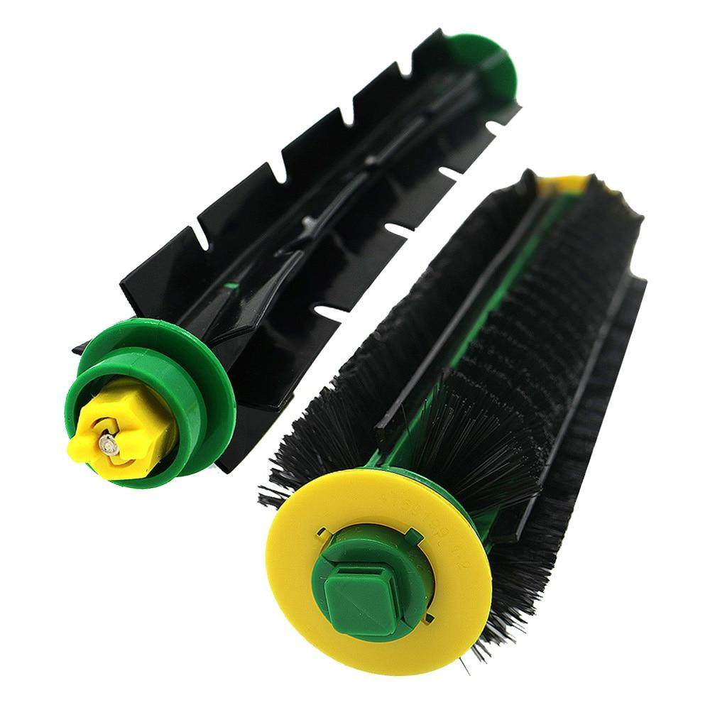1 Набор щетинных кистей + Гибкая щеточная щетка для iRobot Roomba 500 Series 510 520 530 535 540 550 560 570 Запчасти для пылесоса