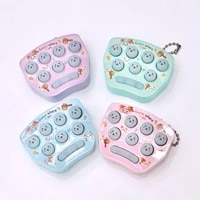 1pcs mini hamster game fidget pocket game hand held toy keychain color random cute small portable keychain for children