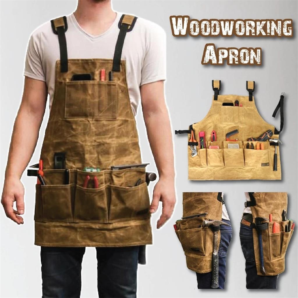 Al aire libre multifuncional bolsa de jardín de almacenamiento de bolsa de tela Oxford electricista cinturón de herramientas de carpintero mandil de herramientas # g3