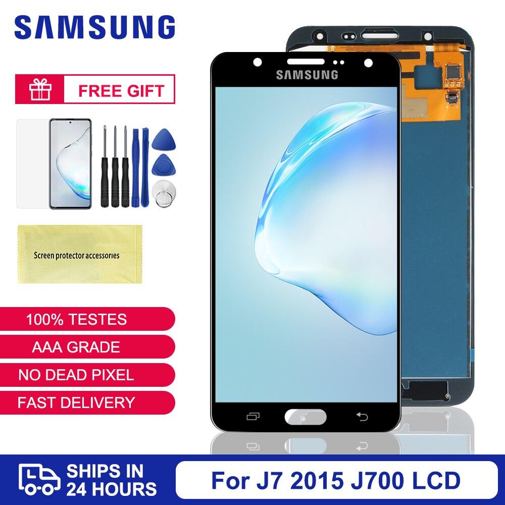 J7 display para samsung galaxy, para samsung galaxy j7 2015, j700, display lcd, touch screen, digitalizador, peças para samsung j700f, j700m, j700h