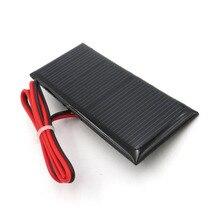 5,5 V 70mA Solar Panel mit 30cm verlängern draht Mini Solar Batterie Handy Ladegerät DIY Epoxy Polykristalline Silizium solarzelle