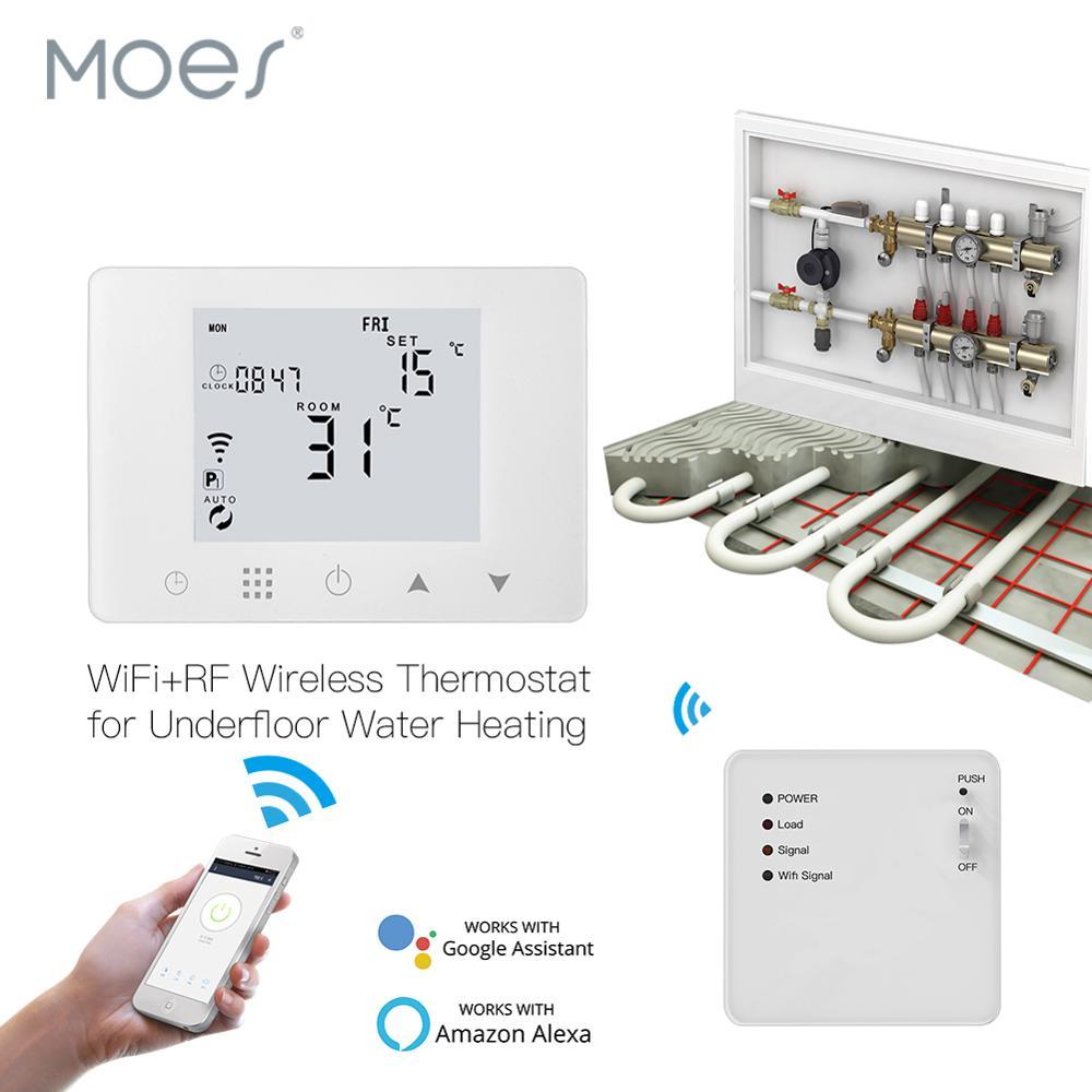 WiFi termostato inteligente de pared de agua bajo suelo calefacción controlador de temperatura funciona con Alexa Google Home