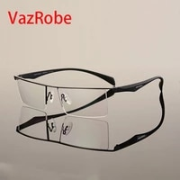 vazrobe oversized eyeglasses frame men brand designer glasses man wide fat face spectacles for prescription myopia diopter lens