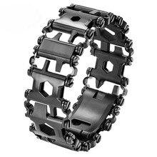 29 in 1 Multi Tools Bracelet Stainless Steel Survival Travel Friendly Bracelets _WK
