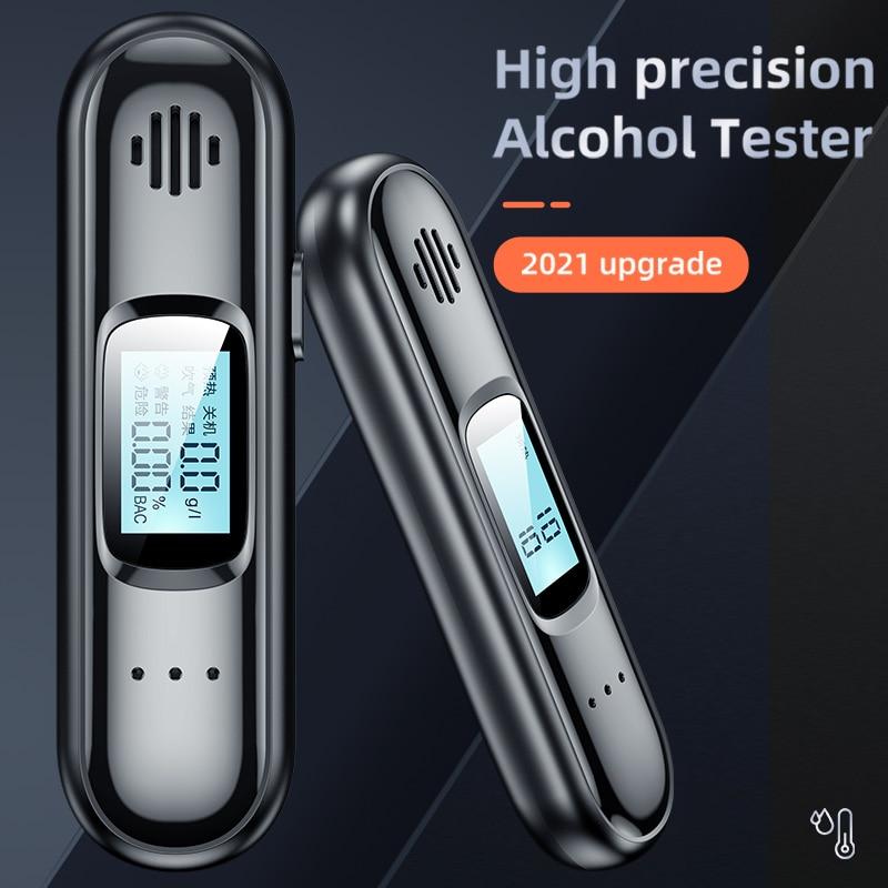 Портативный цифровой алкотестер, бесконтактный Тестер для выдувания спирта с USB-зарядкой, ЖК-дисплей, автомобильные товары