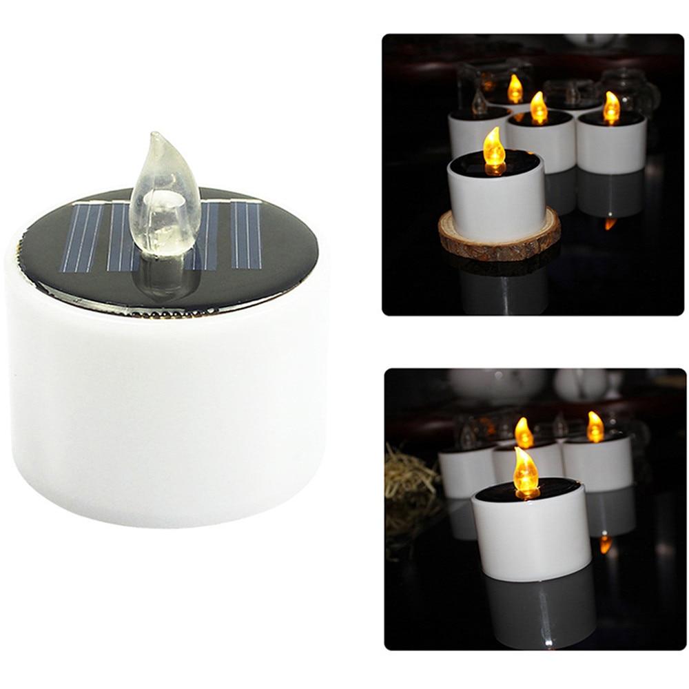 Светодиодный светильник для свечей, 1 шт., светодиодный светильник на солнечной батарее, беспламенный электронный светодиодный светильник для чая, Прямая поставка, #30