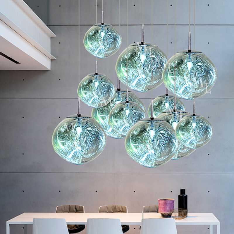 مصباح معلق LED مصنوع من مادة PVC ، تصميم إسكندنافي حديث ، إضاءة داخلية مزخرفة ، مثالي للفيلا أو الشقة أو المطبخ.