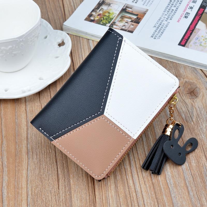 Women Cute  Wallets Pocket Purse Card Holder Patchwork Wallet Lady Female Fashion Short Coin Burse Money Bag