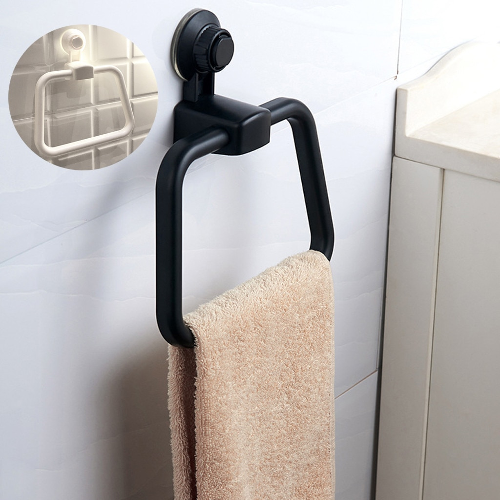 Toallero Wieszak Na Reczniki Porte-Anillo de toalla para baño, colgador de mano, estante para toallas de baño, montaje en pared # W