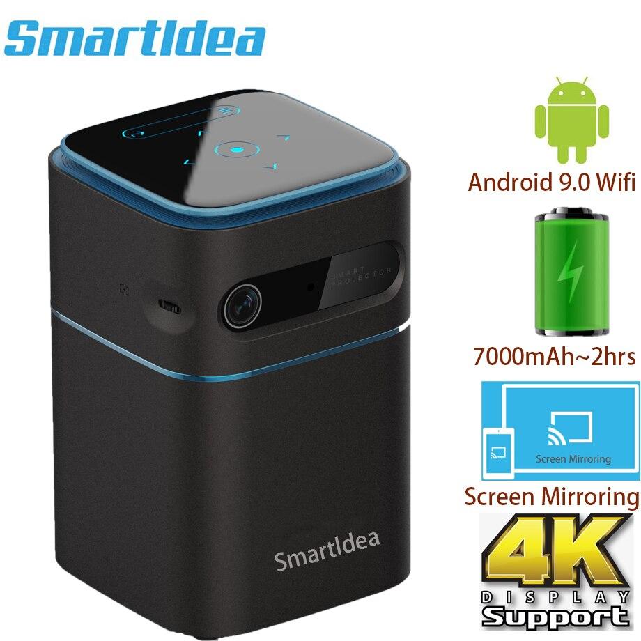 Smartldea-miniproyector de bolsillo D042, dispositivo con Android 9,0, 5G, Wifi, BT5.0, DLP,...