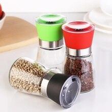 Moulin à poivre en acier inoxydable   Tout nouveau Style créatif moulin à poivre, bricolage manuel, broyeur de bouteilles, outil de cuisine en verre, broyeur à poivre, bouteille