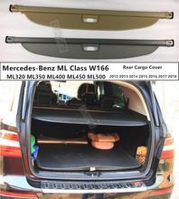 Für Hinten Stamm Security Shield Cargo Abdeckung Für Mercedes-Benz ML Klasse W166 ML320 ML350 ML400 2012-2018 hohe Qualit Auto Zugriffs