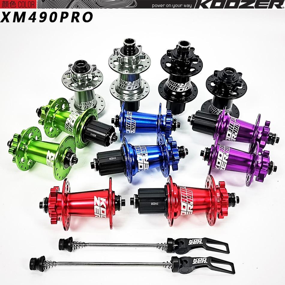 Koozer-bujes traseros XM490 PRO bicicleta de montaña 4 rodamientos de 9x100mm 10x10x135mm...