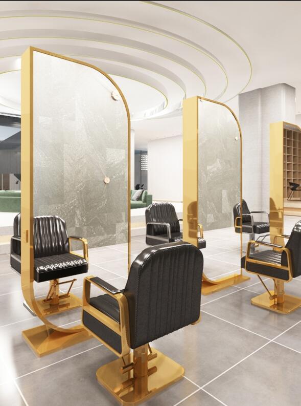 Wanghong-مرآة لمصفف الشعر ، مرآة على الوجهين ، خزانة مدمجة ، صالون لتصفيف الشعر