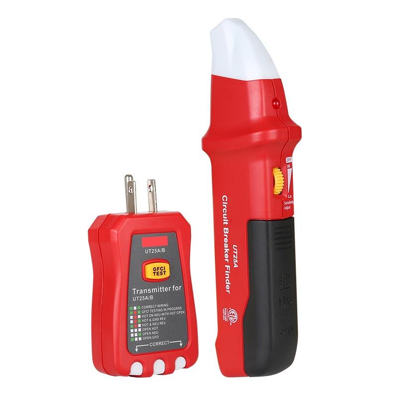 Buscador de interruptor de circuito Digital probador de toma ajustable de sensibilidad herramienta de diagnóstico para el probador de toma de corriente para el hogar-30