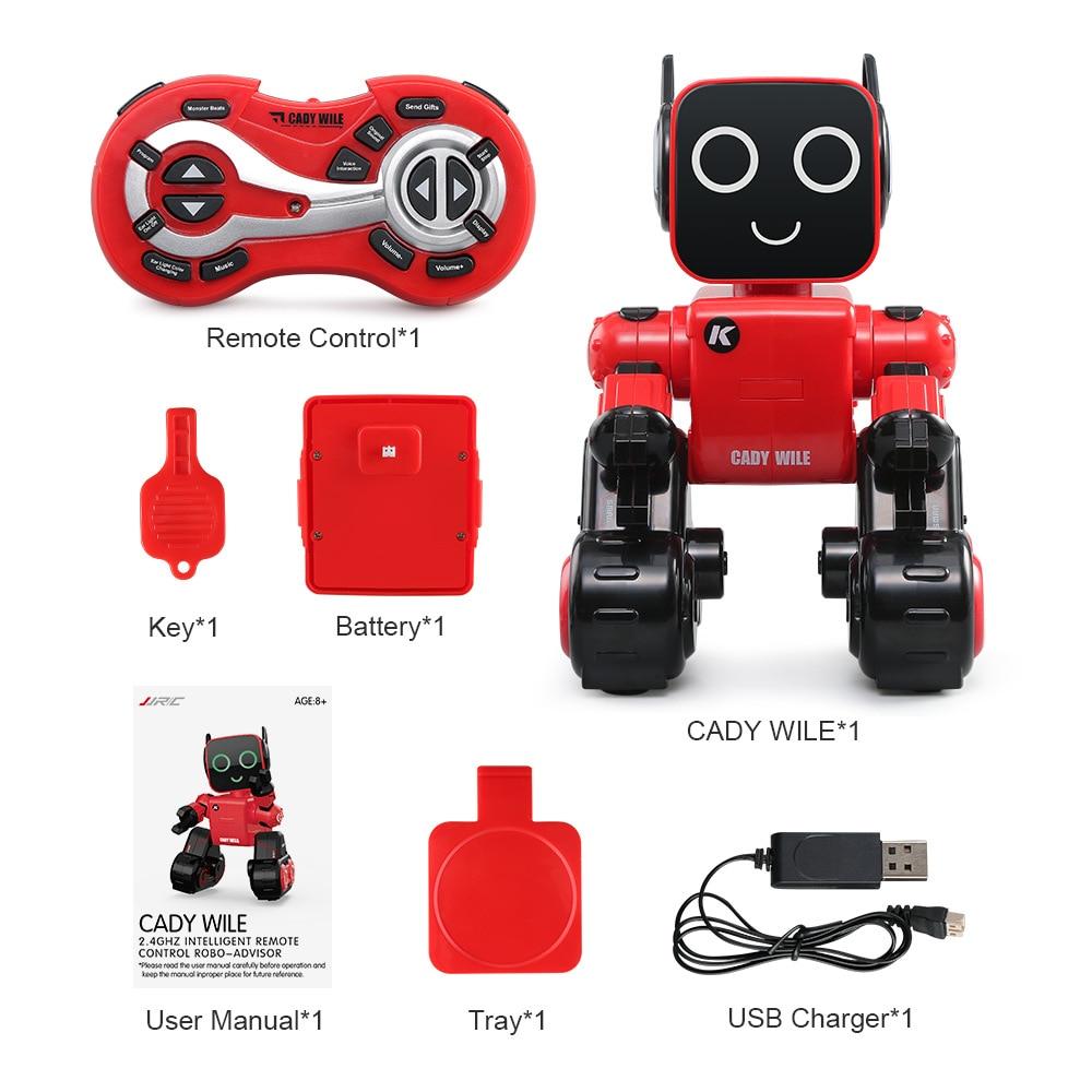 JJRC R4 Cute RC Robot Toy For Children Education With Piggy Bank Voice Control Intelligent Robots Remote Control Gesture Control