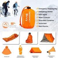 Спальный мешок для экстренного выживания, компактный, водонепроницаемый, многоразовый, из майлара
