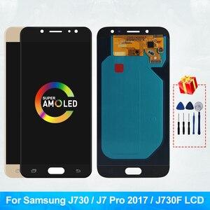 ЖК-дисплей Super Amoled J730FN/DS для Samsung Galaxy J7 Pro 2017 J730 J730F, ЖК-дисплей и сенсорный экран, дигитайзер, запасные части