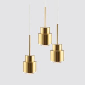 Nordic Gold Pendant Lamp For Dining Room Bar Kitchen Hanging Light Fixture  Modern Bedside Interior Lighting