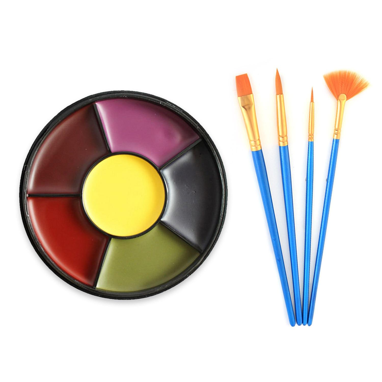 Pintura al óleo con pinceles para niños, pintura para cara y cuerpo de 6 colores, baile de fantasía, teatro, espectáculos, Cosplay, maquillaje para fiesta