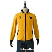 msby black jackals jacket cosplay coat costume shoyo uniform team windbreaker lightweight zipper