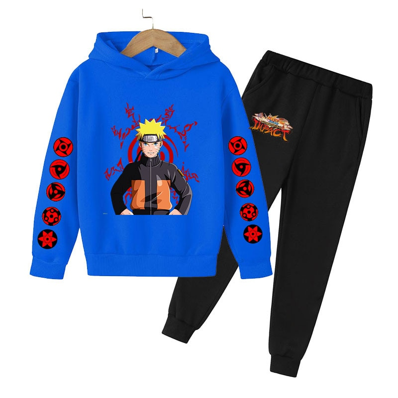 Boy Girl Set huoying Children's Cartoon Hoodie Trendy Leisure Anime Sportswear Baby Clothes Jogging clothing for Teenagers
