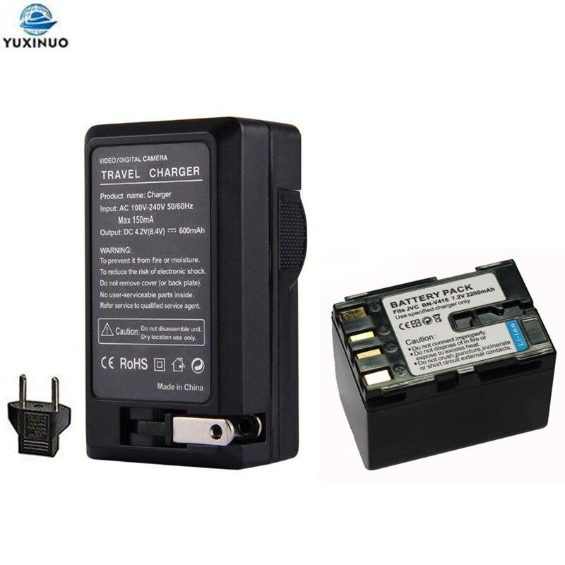 2200 мА/ч, BN-V416 V416U BNV416 Батарея + AC Зарядное устройство для JVC BN-V408 V408U V408US V428 V428U V428US GR-D93 GR-D94 GR-D220 GR-D225