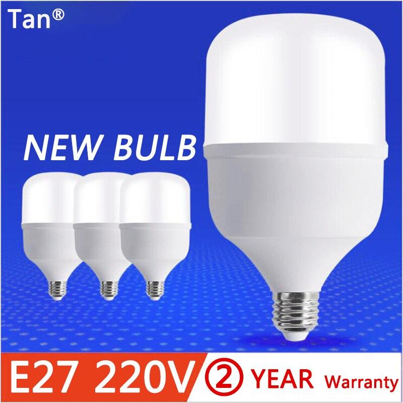 Lámpara LED de alta potencia E27 bombilla LED AC220V 230V 240V 5W 10W 15W 20W 30W 40W 50W IC inteligente bombillas LED foco lámparas de mesa Luz