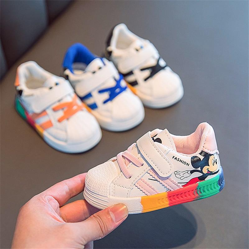 Новинка, детская обувь, мужская супердвижущаяся Белая обувь, детская обувь для девочек с радужной подошвой, детская обувь с мягкой подошвой ...