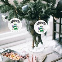 30PC 2020 Christmas Ornament Mask Paper towel Decorate Christmas tree Personalized Family Christmas Tree Pendant Hot Sale