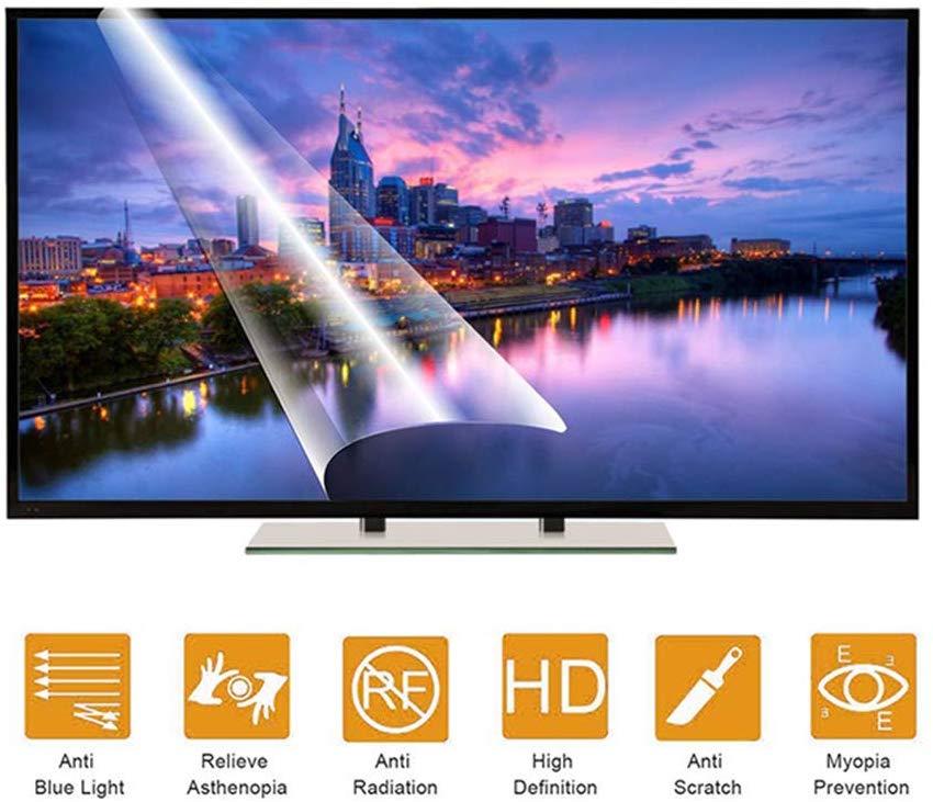 Para Panasonic TH-49CX400DX 49 pulgadas LED 4K TV antirreflejo Protector de pantalla de luz azul película para aliviar la tensión ocular antiarañazos