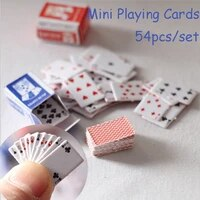 125set cute 112 miniature games poker mini dollhouse playing cards miniature for dolls accessory home decoration high quality