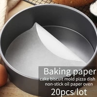 baking paper parchment paper liners for round sheets pan bbq paper pad non stick oil paper oven cake baking mat 20pcsset