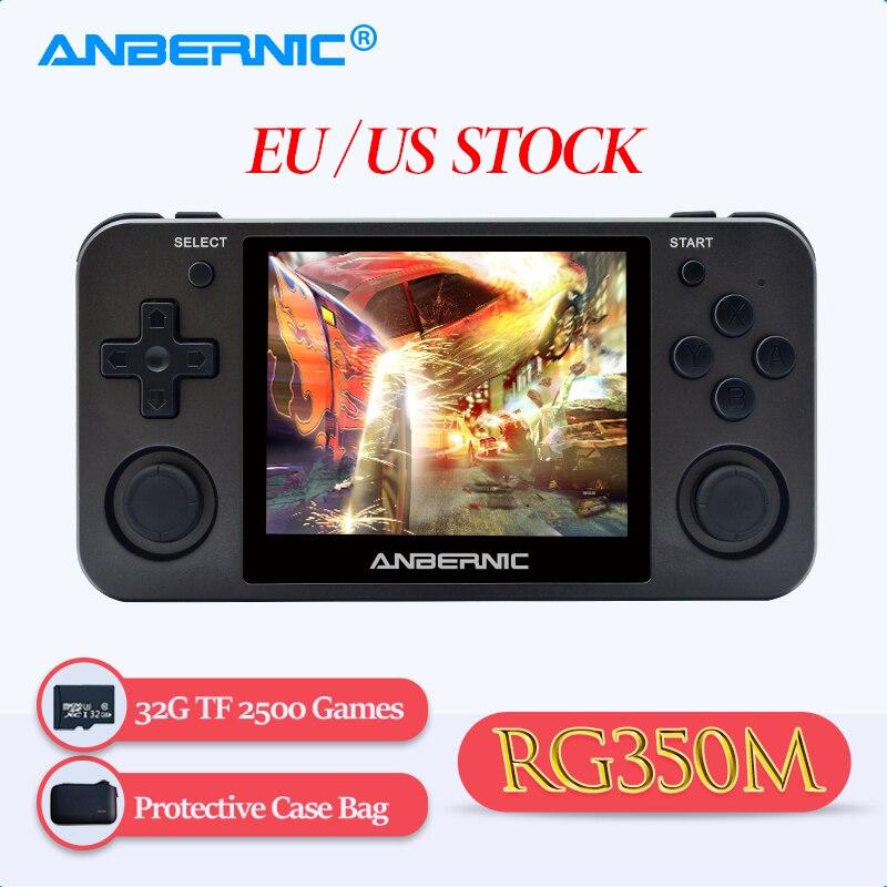 ANBERNIC-Consola de juegos Retro PS1 con carcasa de aleación de aluminio, emulador,...