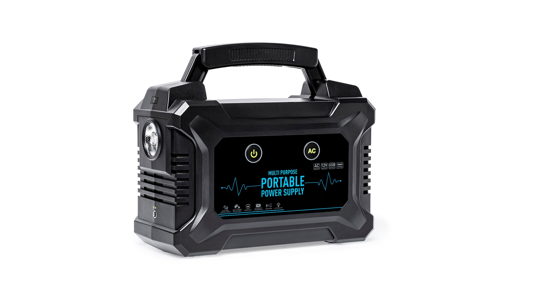 Portable Power Station 220Wh Emergency Backup Lithium Battery 200W AC Inverter Outlet Solar Generator