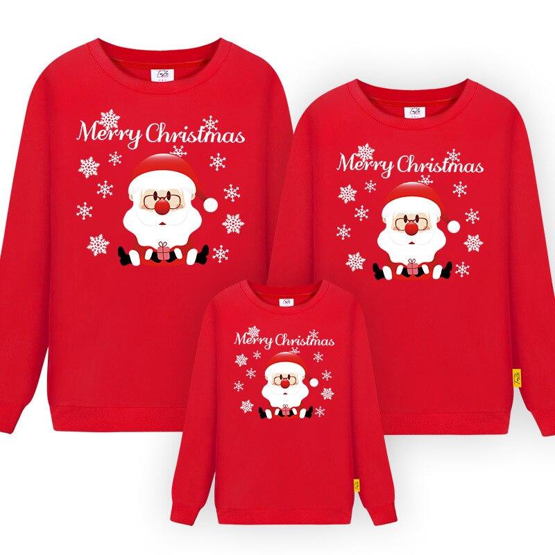 Family Matching Christmas Sweatshirt Family Christmas Pajamas Father Mother Daughter Son Santa pajamas Family Matching Outfits