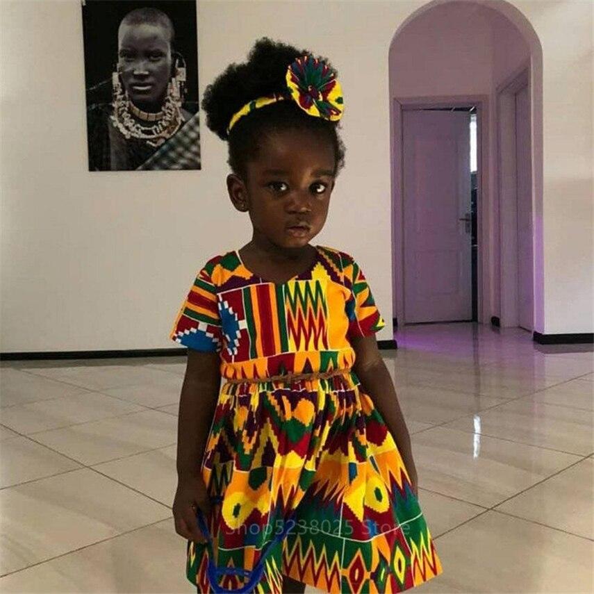 """Платья """"Анкара"""" для маленьких девочек в африканском стиле Dashiki, комбинезоны, для детей, рубашка в африканском стиле 2019 Новости Модные вечерние комплект из обуви в африканском стиле платья для Для женщин"""