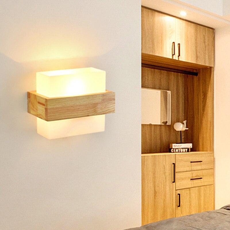 Lámpara de noche para dormitorio, dormitorio, pasillo, cuerda de hierro, decoración nórdica,...