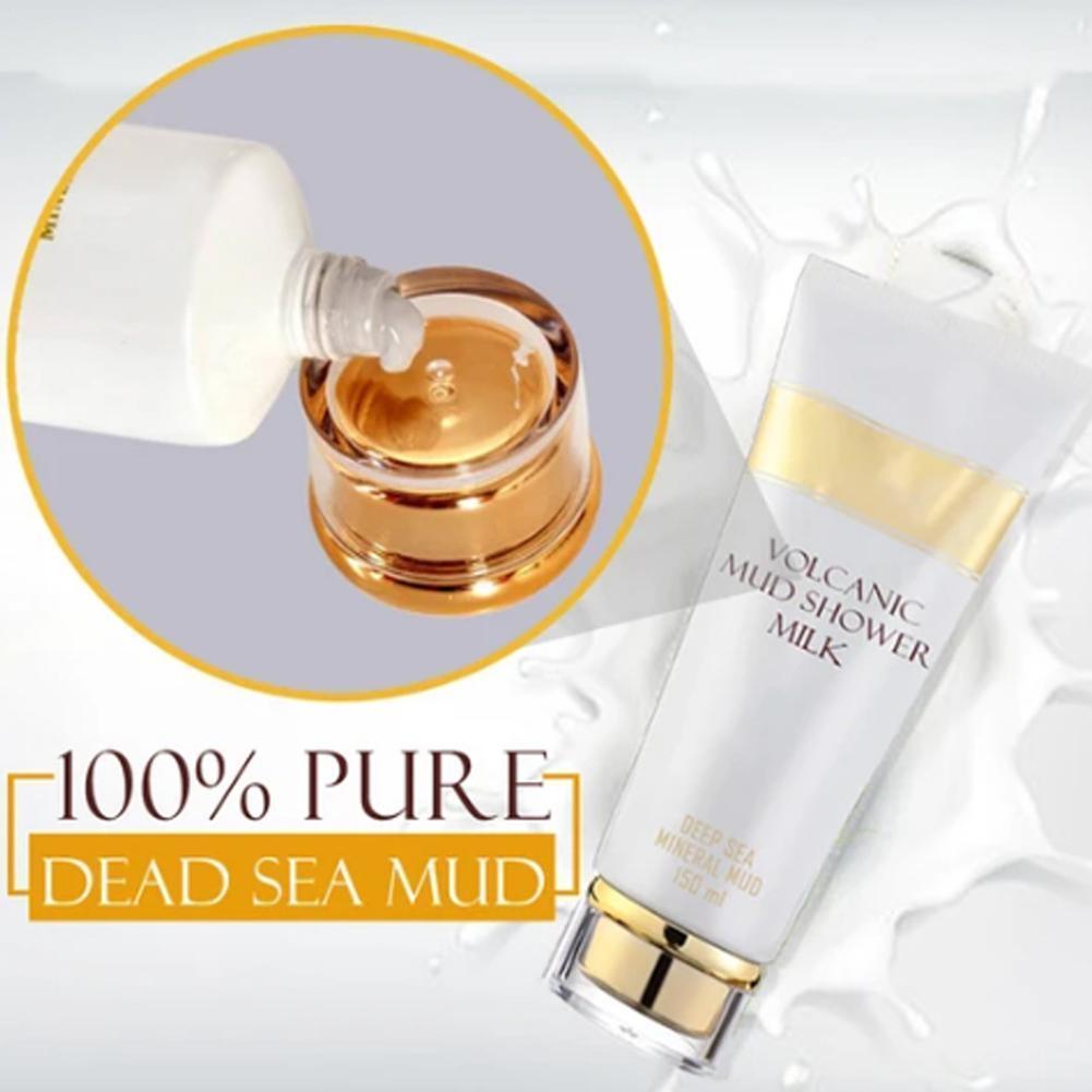 Healthy Formulas Whitening Volcanic Mud Bath Milk Cream Clean Body Deep Body Exfoliating Wash Lotion Women For Men Moisturi S0S4