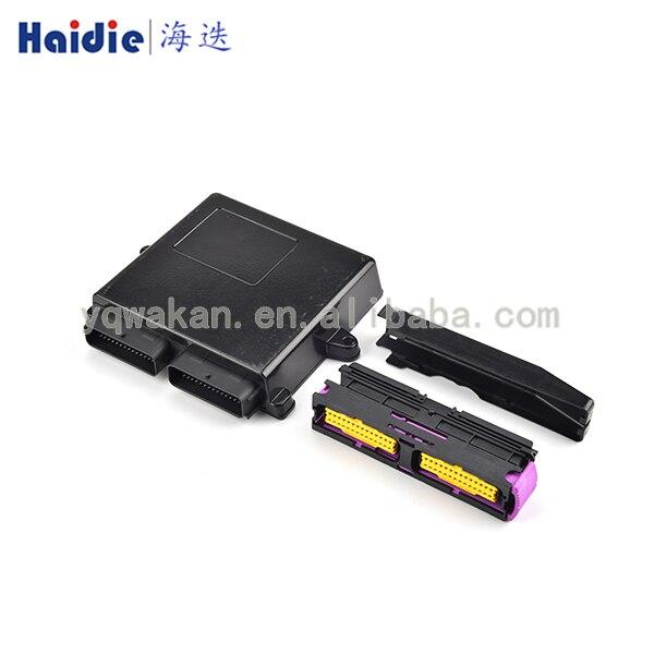 Envío Gratis 56pin caja de plástico con carcasa de aceite de Motor a gas glp CNG Kits de conversión controlador conector automático