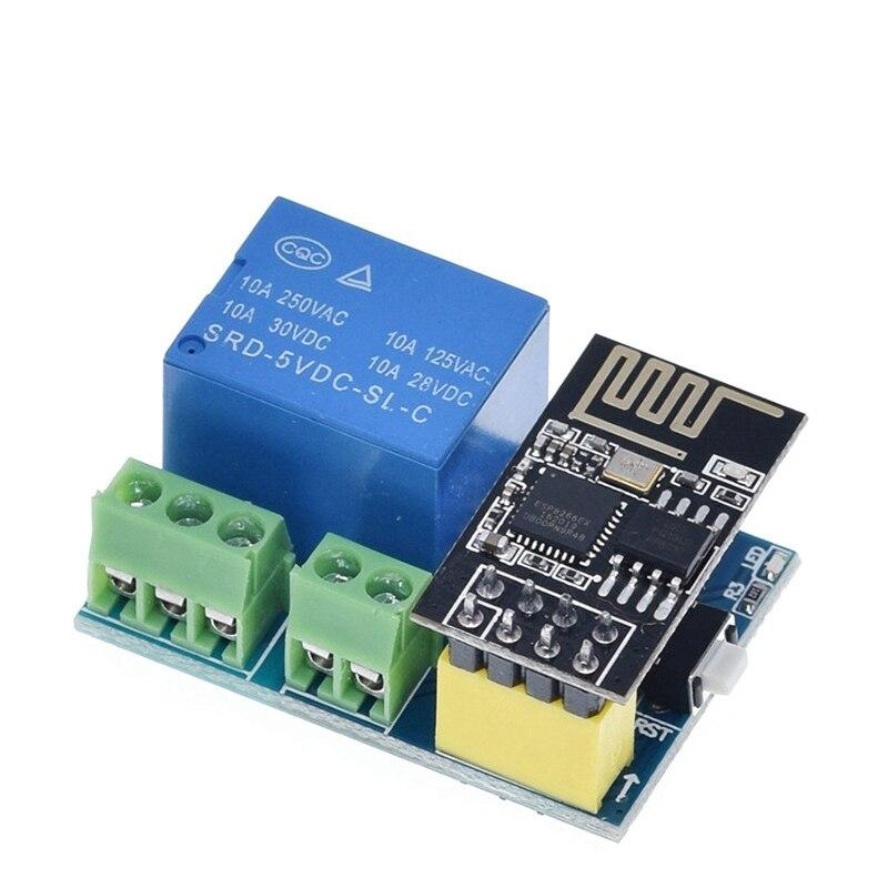 Módulo de relé de ESP-01S ESP8266, relé WIFI, dispositivos de hacking de vida con toma inteligente