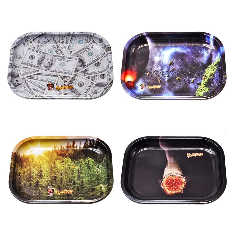 180mm*141mm Metal Rolling Tray Tobacco Rolling Tray  For Smoking Herb Grinder Cigarette Container Tray Handroller enlarge