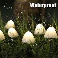 102030led mushroom fairy lights solar string light outdoor waterproof garden night lights patio lawn string lights decorations