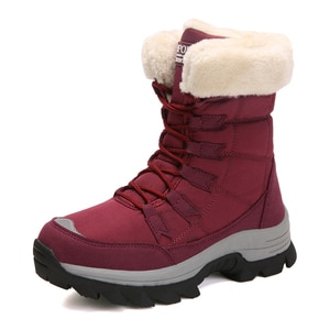 women Mid-Calf boots winter 2020 high-top snow boots Wear-resistant Platform ladies shoes Platform warm footwear plus size 36-42