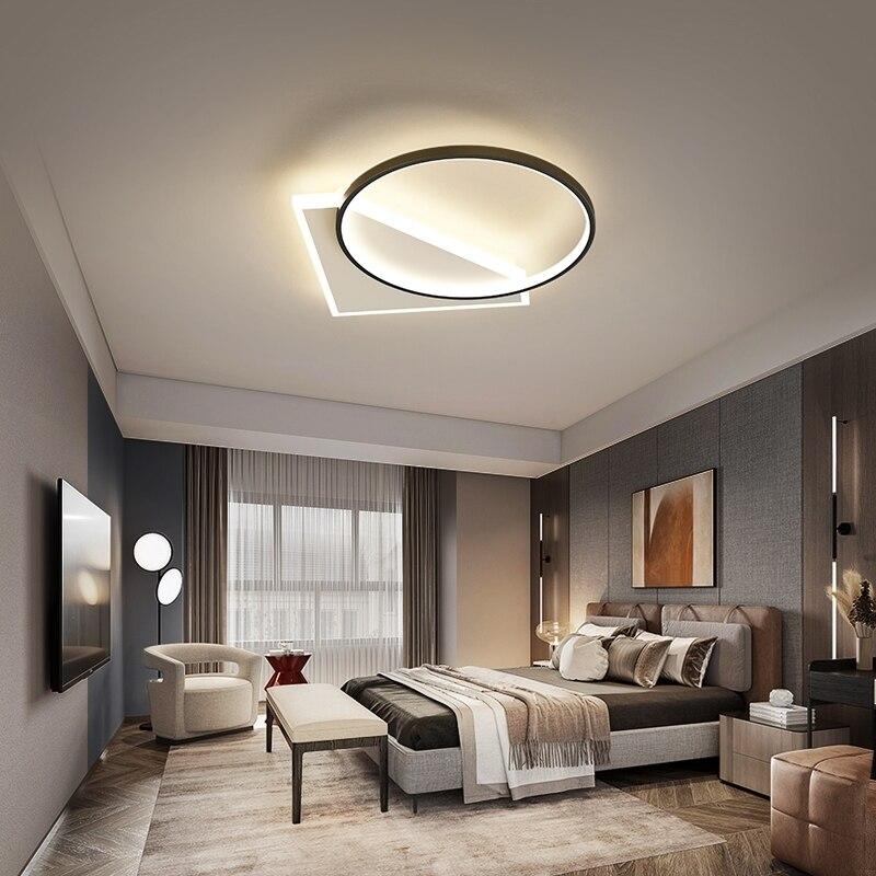 Современные светодиодные потолочные лампы для Спальня исследование Гостиная закрытый круглый освещение лампы для украшения Luminaria люстры ...