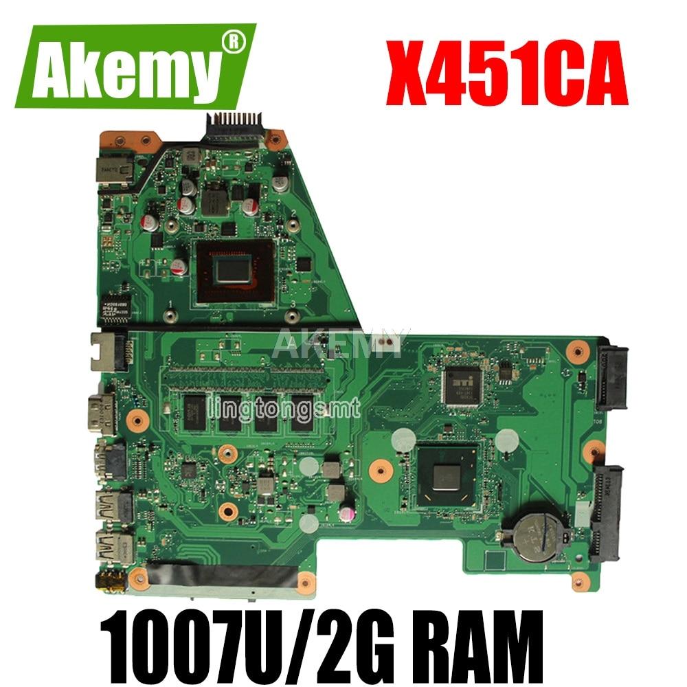 الأصلي ل Asus اللوحة الأم الكمبيوتر المحمول X451CA X451CA 1007U 2G RAM HM70 REV 2.1 اختبار جيد شحن مجاني