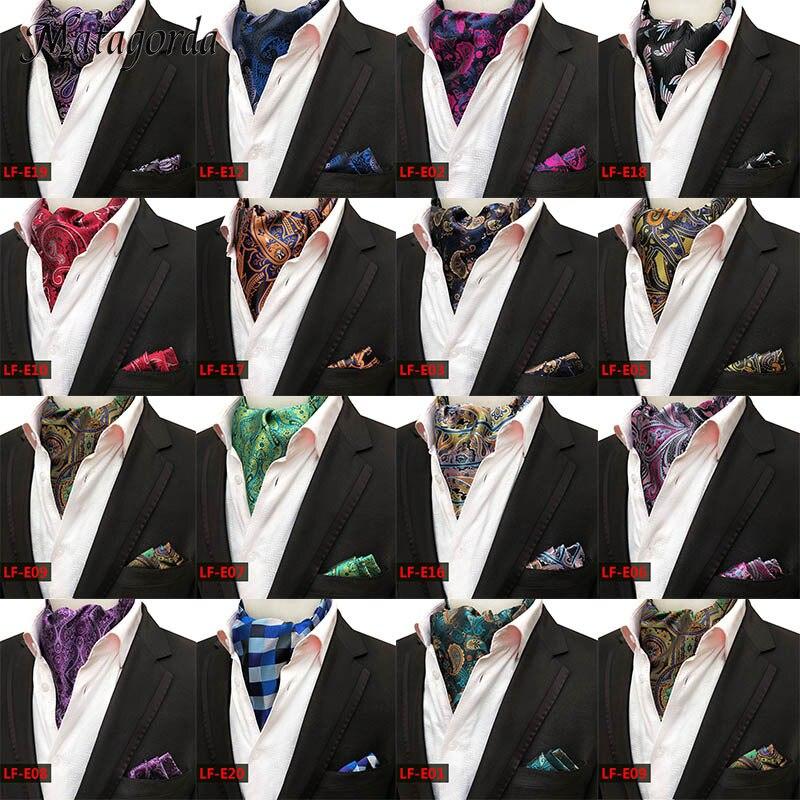 Neckerchief Men Scarf High Quality Silk Tie Jacquard Necktie Cravat Men Ascot Tie+Hanky Suits Set Pocket Handkerchief Neckwear male fashion gift box with tie hanky cuff link tie clip set navy blue wine red stripe necktie handkerchief man cravat neckwear