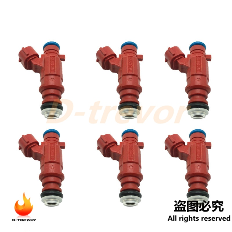 6 uds 0280155937 inyector de combustible para 2000-2003 Nissan Sentra 1.8L 4Cyl QG18DE