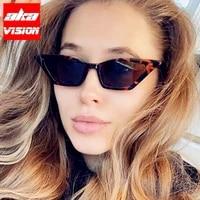 aka vision 2021 small cateye women sunglasses vintage glasses womenmen brand designer glasses women vintage gafas de sol hombre